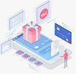 网购购物立体插画