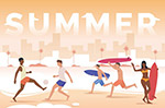 夏日沙滩人物