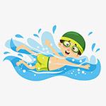 游泳的男孩
