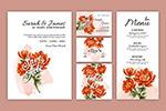 周年庆花卉系列卡片