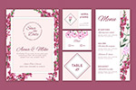 婚礼花卉系列卡片