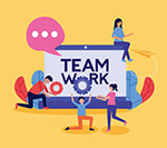 团队合作插图