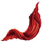 红丝绸矢量图