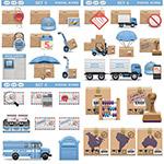 邮件与快递包裹等图标