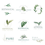 自然和植物标志