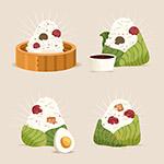 矢量粽子插画