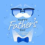 父亲节快乐矢量海报