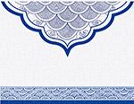 蓝色青花瓷底纹