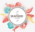 彩绘海鲜标签