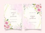 粉色玫瑰婚礼请柬