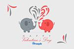 情人节相爱大象