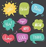 彩色语音气泡对话框