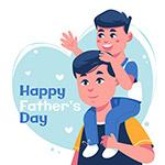 父亲节快乐插画