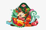 中国风龙舟