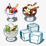 美味凉爽冰淇淋冰块