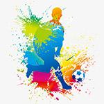 踢足球运动彩绘