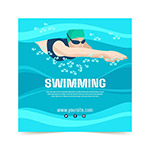游泳运动矢量海报