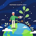 地球母亲日矢量