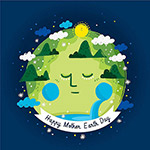 地球日地球梦插画