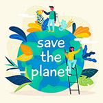 关爱地球环境矢量