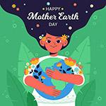 地球日男孩拥抱地球梦想