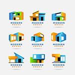 立体几何元素房子标志