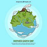 地球环保绿化绘画