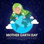 地球母亲日插画