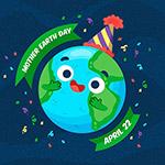 庆祝地球母亲日矢量