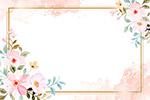 手绘花卉装饰边框