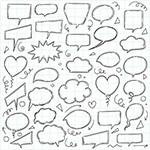 手绘素描风对话框