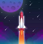 火箭发射插画