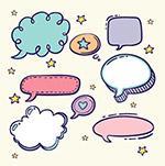 语音气泡卡通对话框