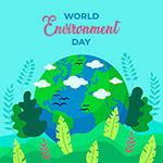 绿化环境地球绘画