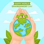 双手保护地球插画