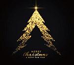金色发光亮光圣诞树