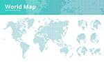 几何方点世界地图