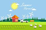农场夏季丰收季节