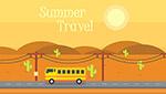 夏季旅游主题矢量
