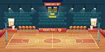 空旷篮球场矢量