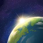 矢量地球日出