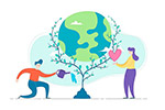 情侣爱情环保地球