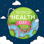 绘画地球健康日矢量