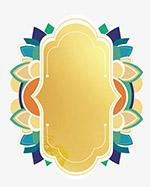 金色复杂花纹框
