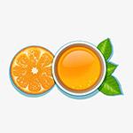 柠檬茶汤矢量