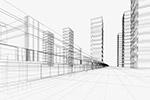 城市建筑透视线条