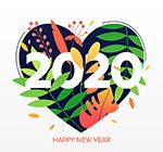 2020新年快乐图形