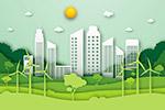 剪纸风生态城市环境概念
