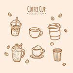 手绘咖啡杯插画