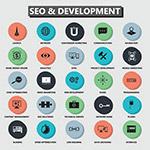 搜索引擎优化和开发图标